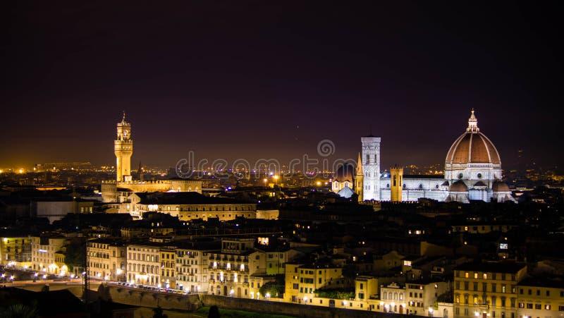 Florenz bis zum Nacht stockfotos