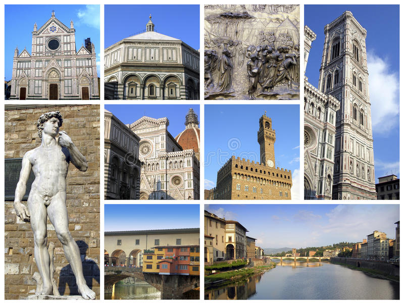 Florenz - Collage lizenzfreies stockfoto
