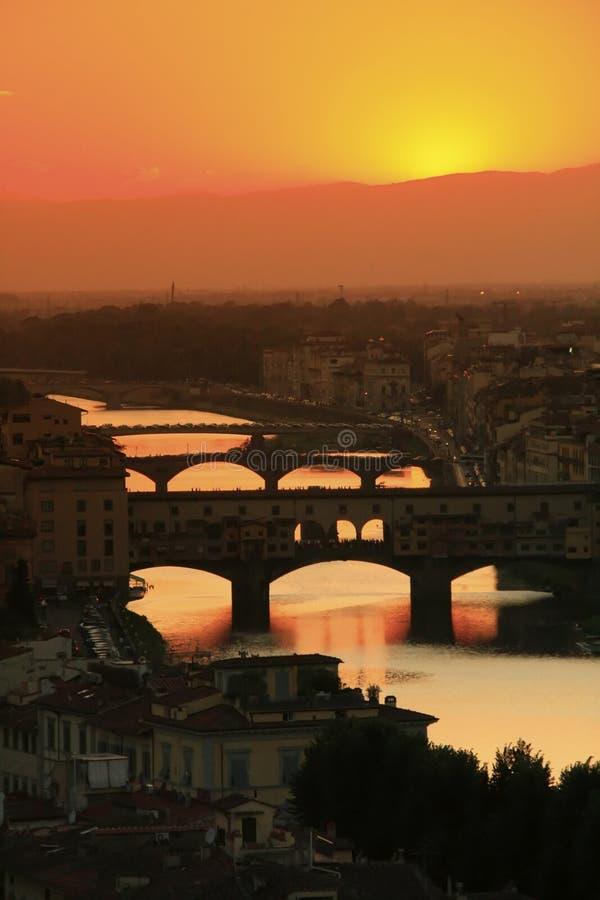 Florenz, Italien, Brücke stockbild