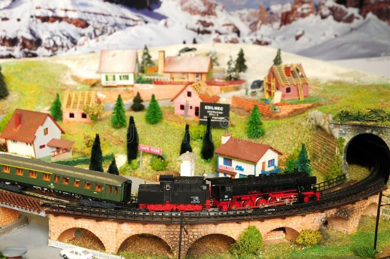 Florenz, ITALIEN - 18. März 2019: Miniatureisenbahnmodellbau mit Zügen stockfoto