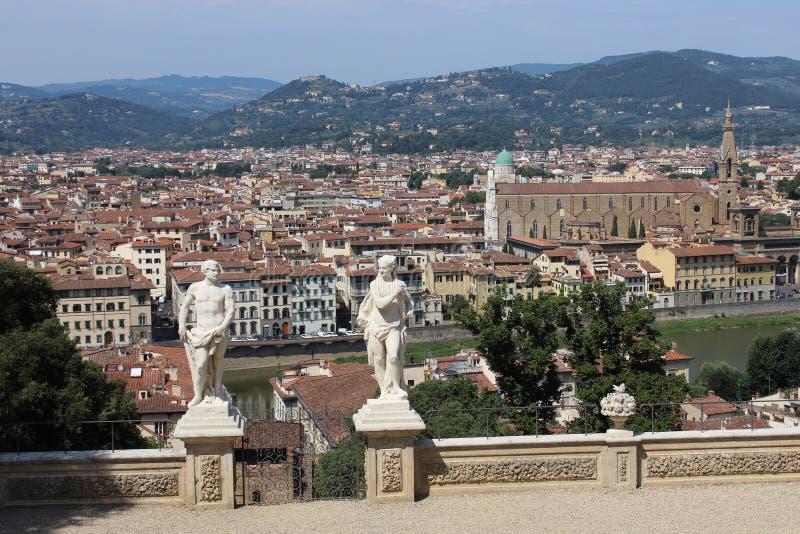 Florenz-Panorama lizenzfreies stockbild