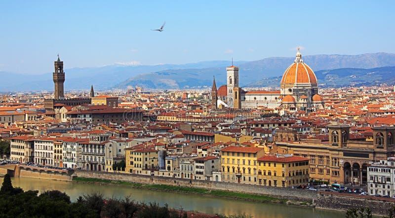Florenz, panoramische Ansicht lizenzfreies stockfoto