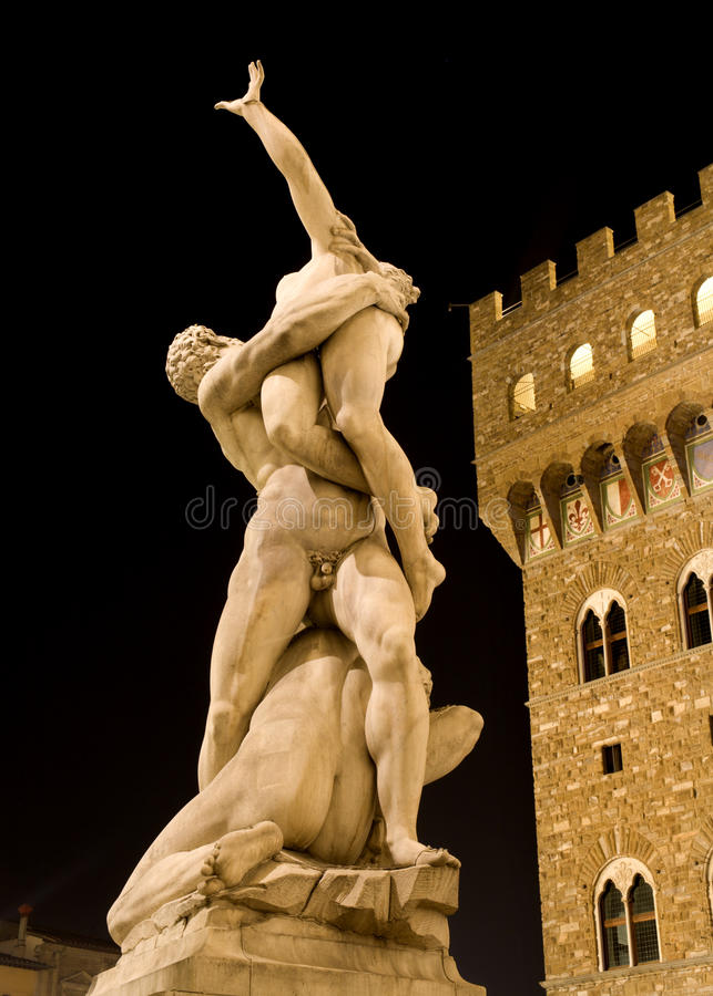 Florenz - Raps des Sabines lizenzfreies stockbild
