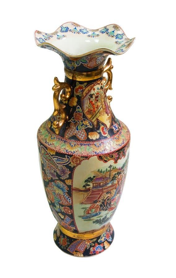 Florero antiguo chino de la porcelana imágenes de archivo libres de regalías