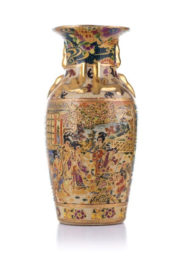 Florero antiguo chino de la porcelana fotografía de archivo