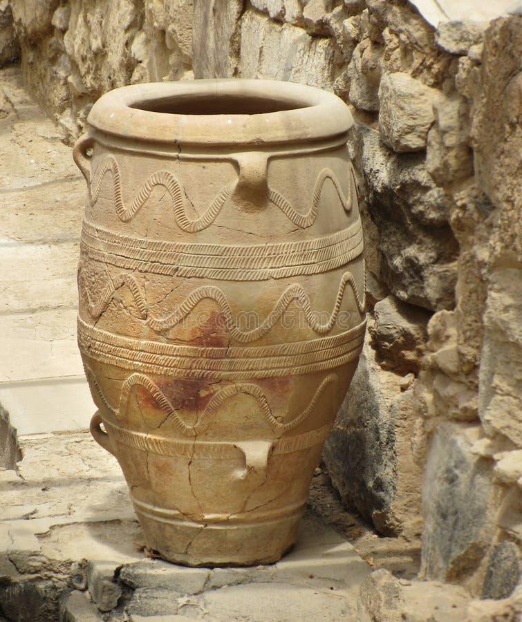 Florero antiguo del amphora de Minoan foto de archivo libre de regalías