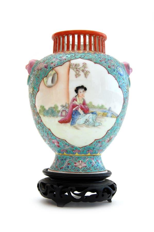 Florero chino foto de archivo