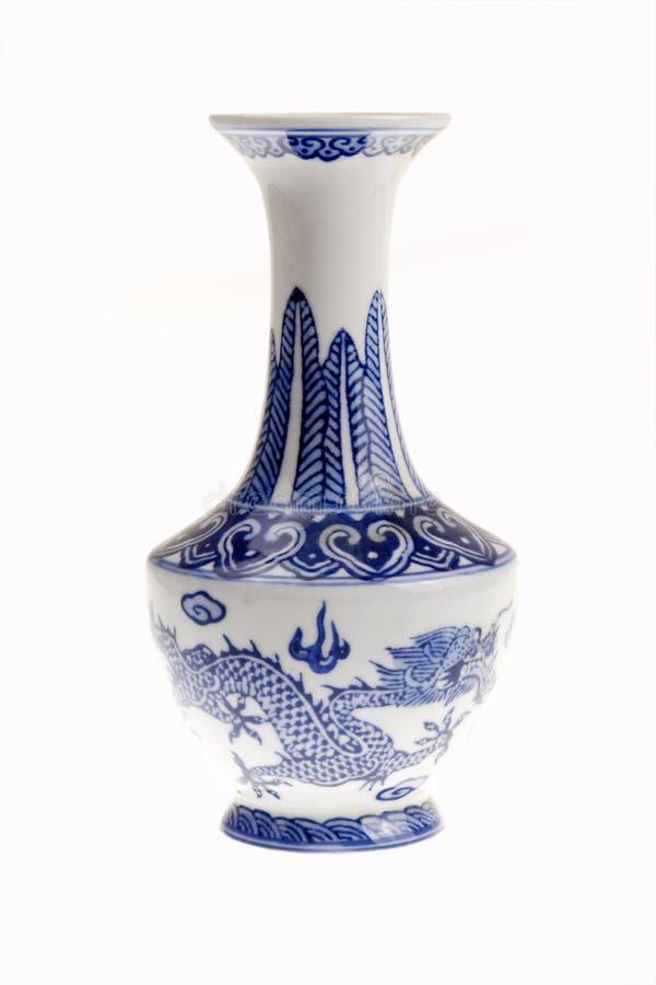 Florero chino de la porcelana foto de archivo libre de regalías