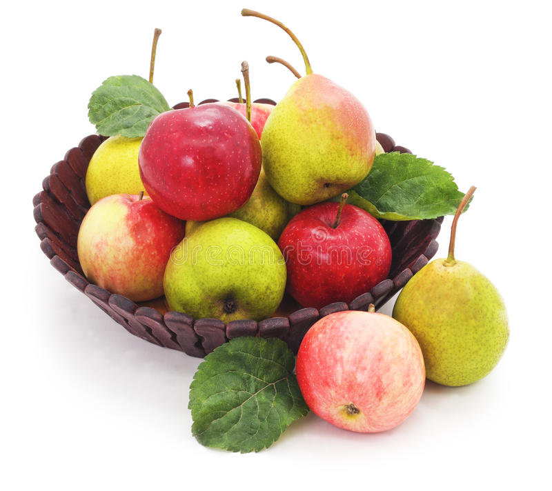 Florero con las frutas imágenes de archivo libres de regalías