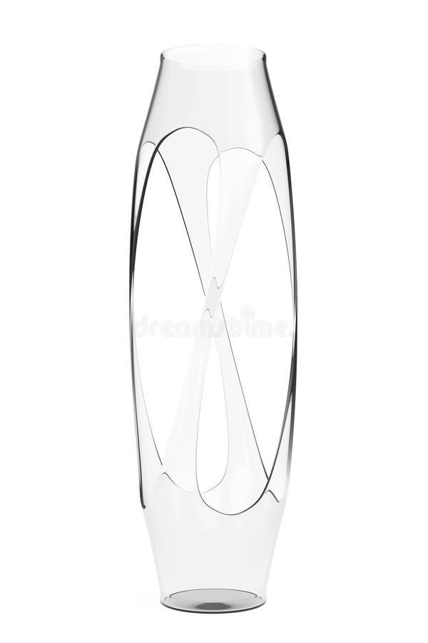 Florero de cristal abstracto representación 3d stock de ilustración