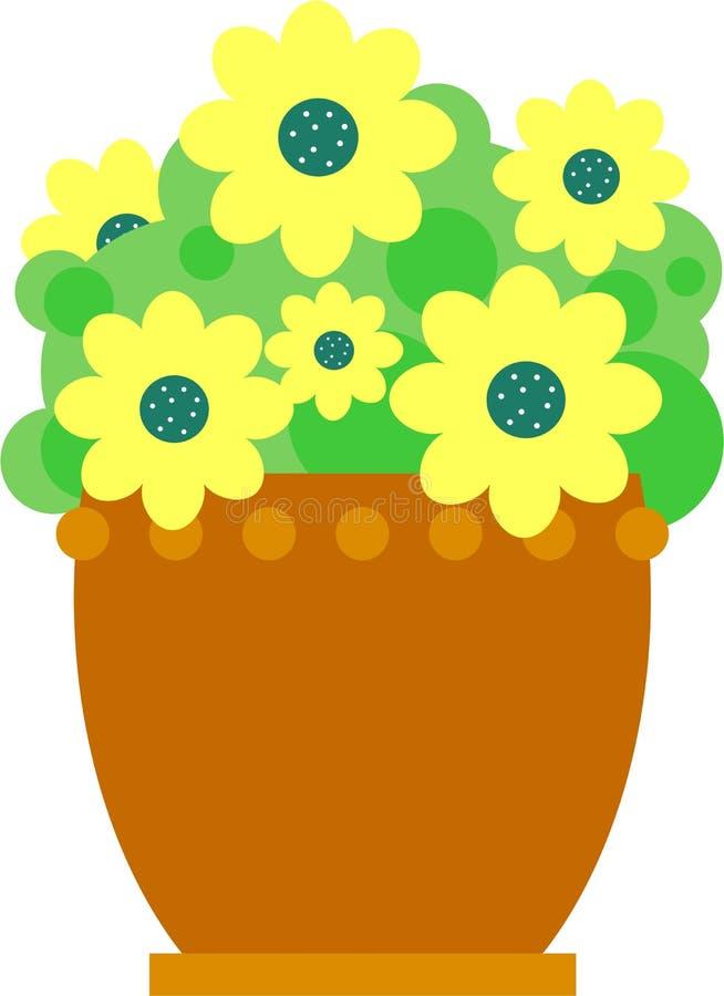 Florero de flores ilustración del vector