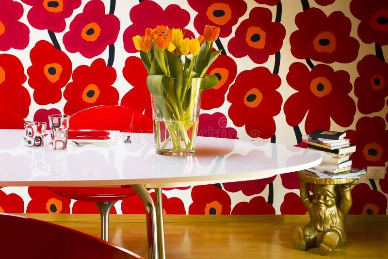 Florero de tulipanes fotografía de archivo