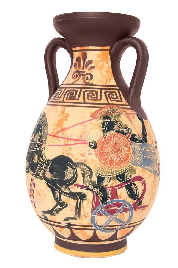 Florero griego imagenes de archivo