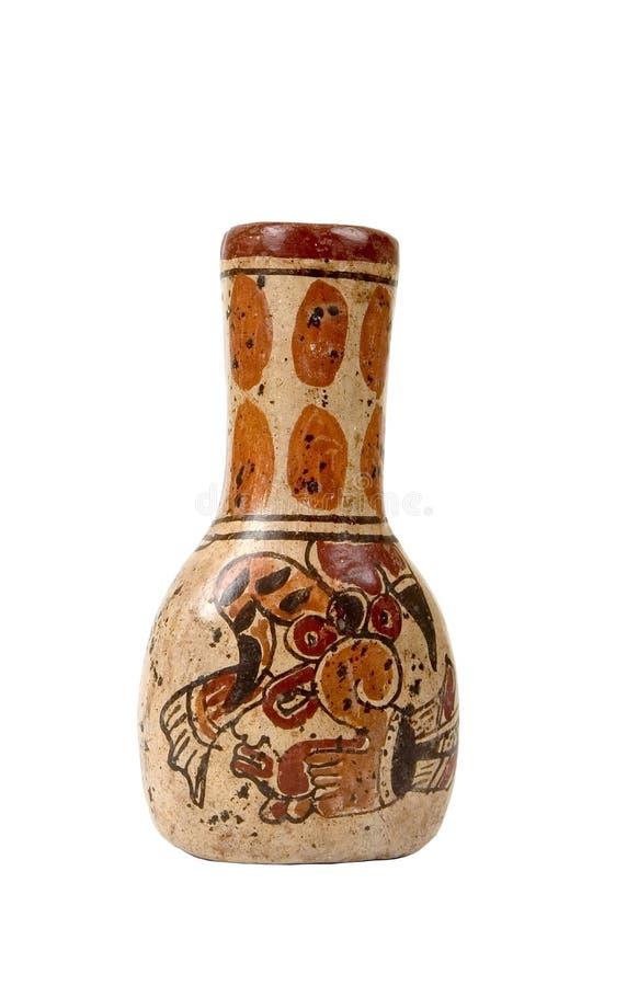 Florero maya aislado foto de archivo libre de regalías