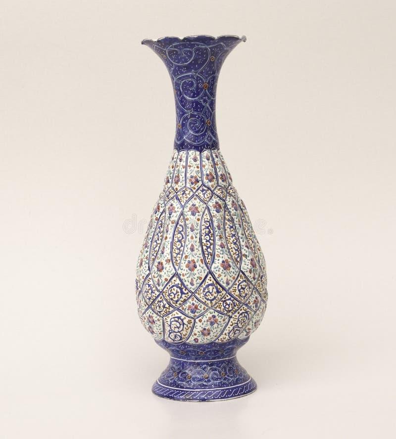 Florero turco de la cerámica imágenes de archivo libres de regalías