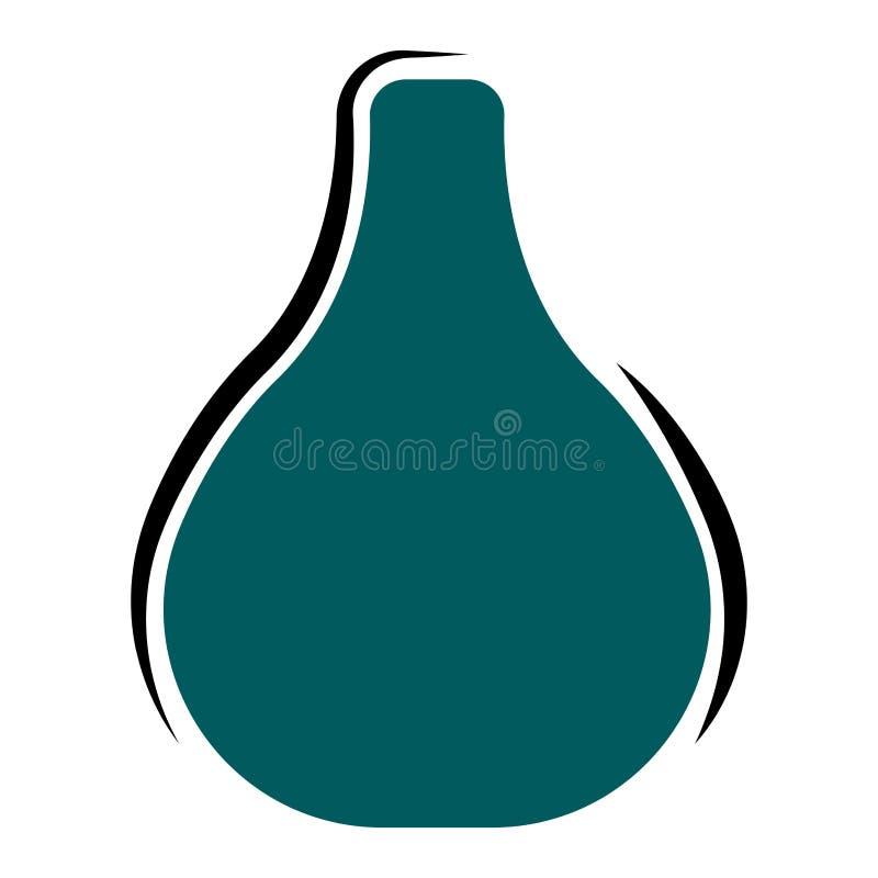 Florero vacío verde aislado ilustración del vector