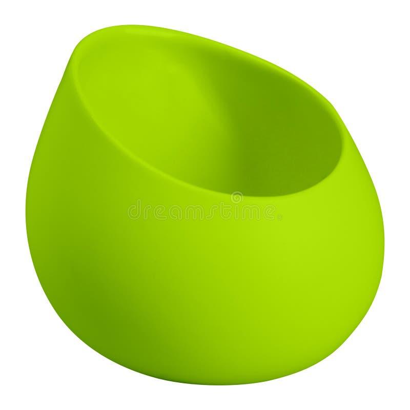 Florero verde aislado en blanco fotografía de archivo libre de regalías