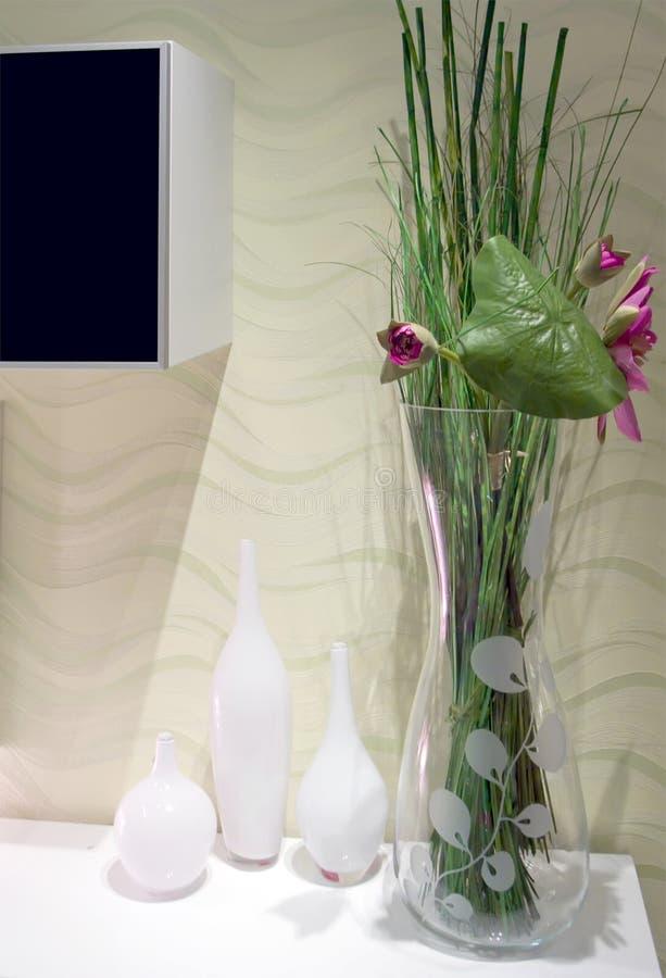 Floreros de cristal fotografía de archivo