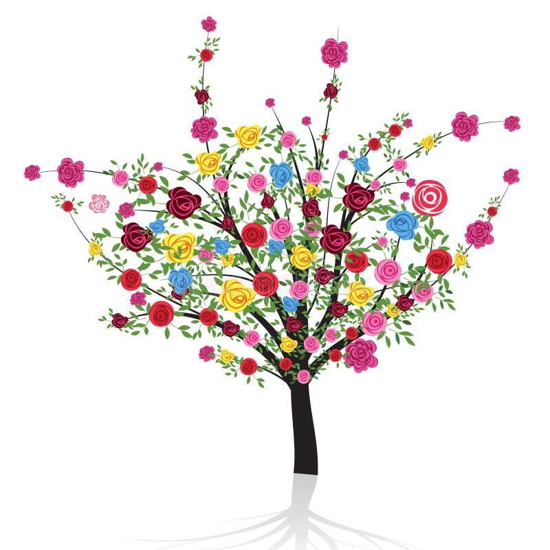Floresça a árvore ilustração stock