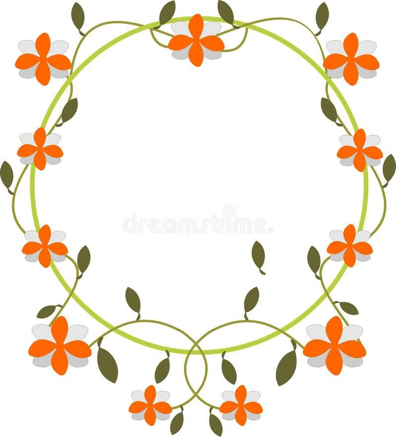 Floresça o frame ilustração stock