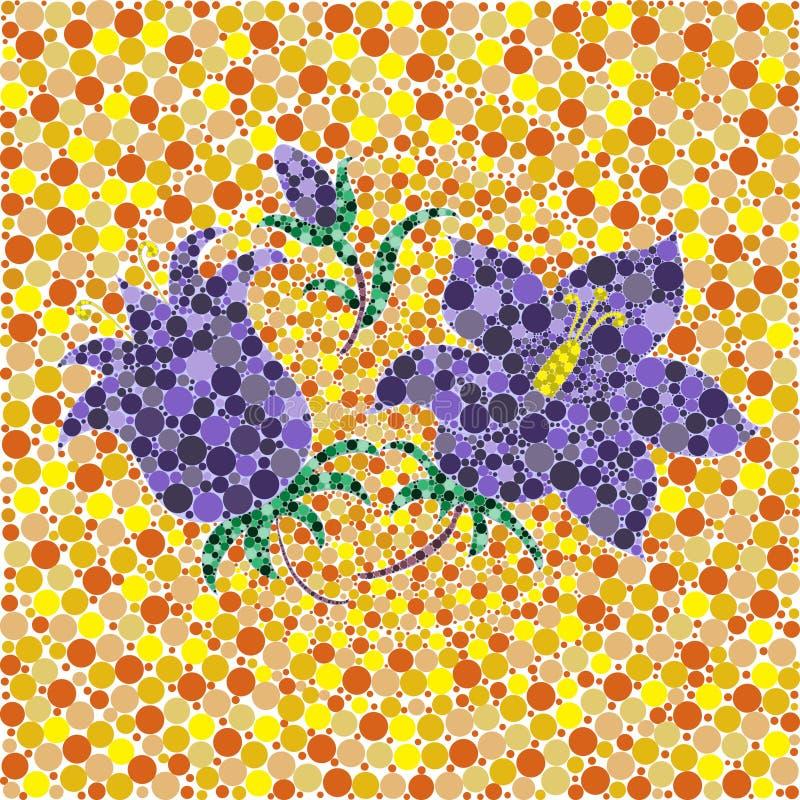 Floresça o sino abstrato da mola do coração das flores o verão da árvore do fundamento da folha do teste padrão da natureza do ec ilustração stock