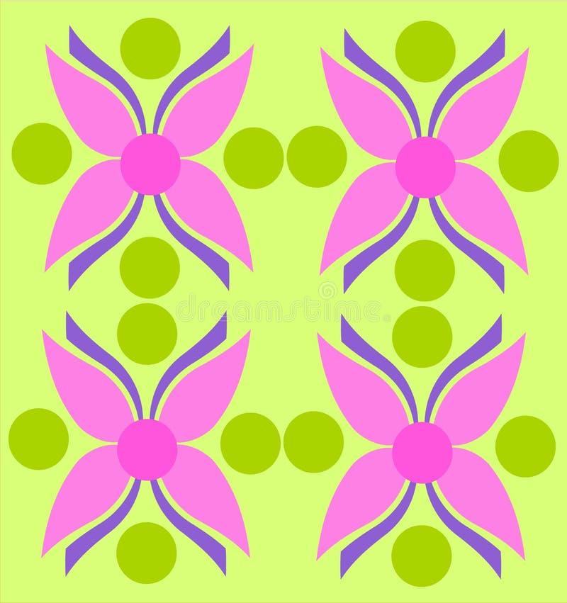 flores纹理 向量例证