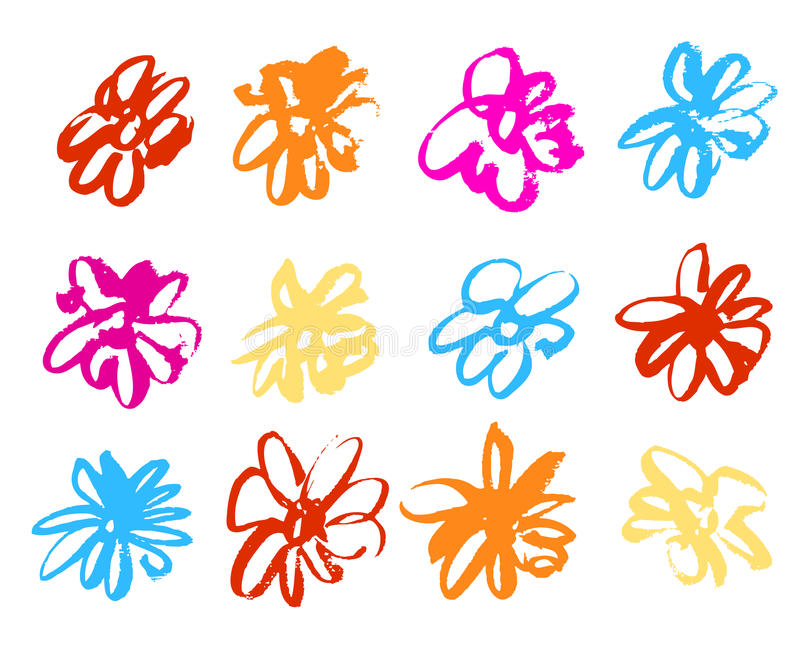 flores Água-coloridas ilustração royalty free