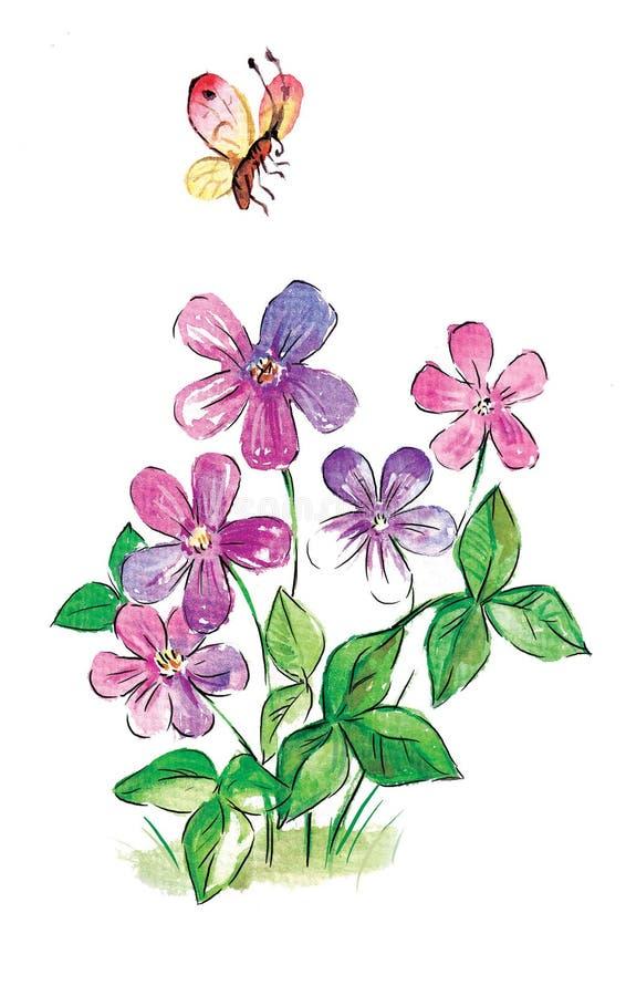 Download Flores ilustração stock. Ilustração de desenhado, divertimento - 12809448