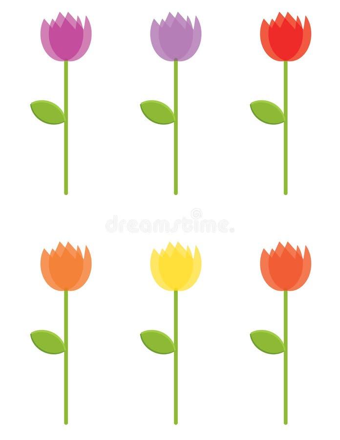 Flores stock de ilustración