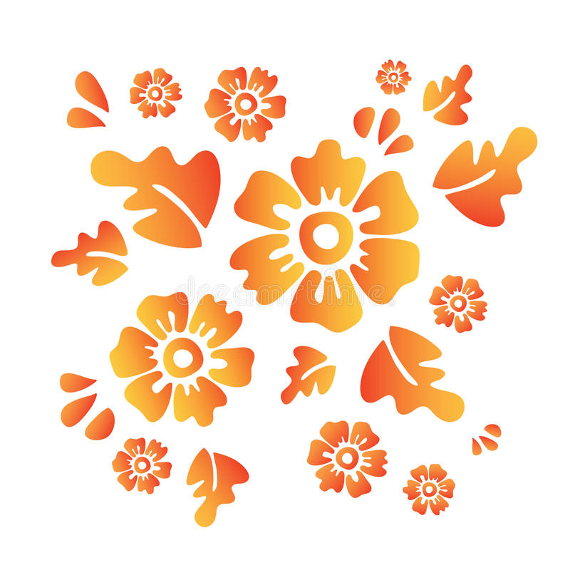 Flores ilustração royalty free