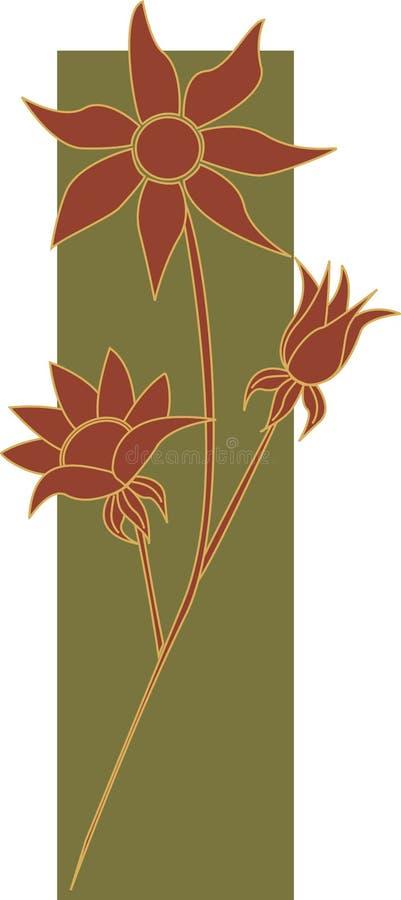 Flores 2 da flanela ilustração stock