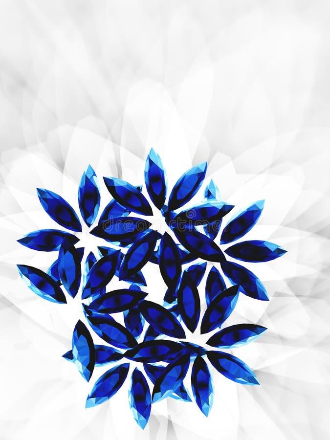 Flores 2 de la amatista ilustración del vector