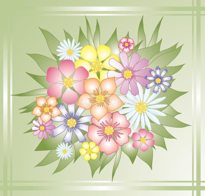 flores royaltyfri illustrationer