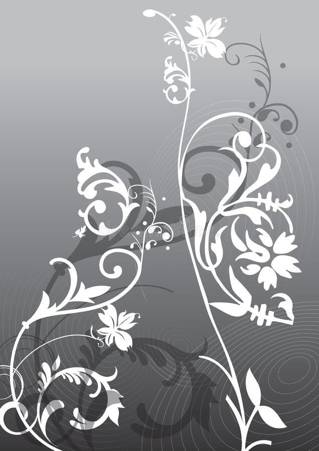 Flores abstractas stock de ilustración