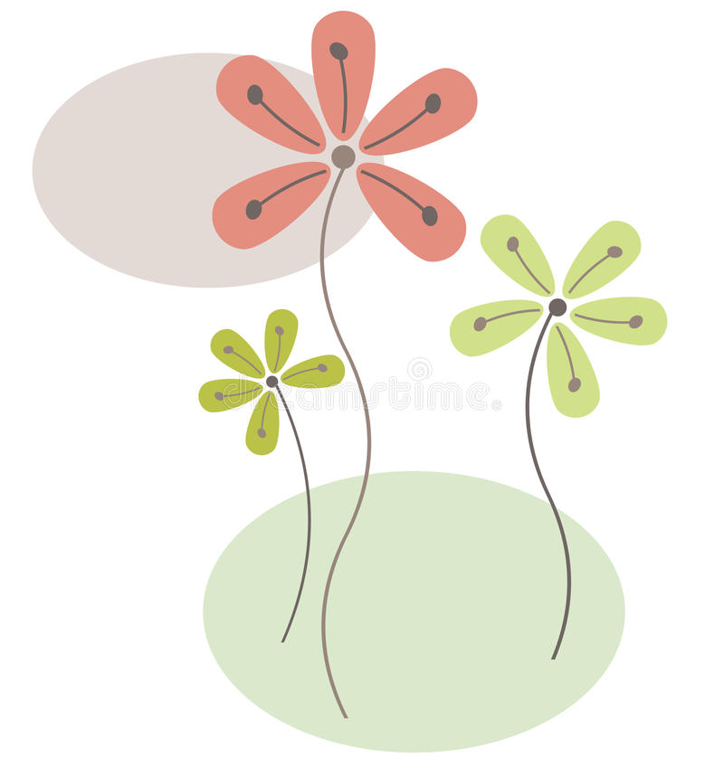 Flores abstractas libre illustration