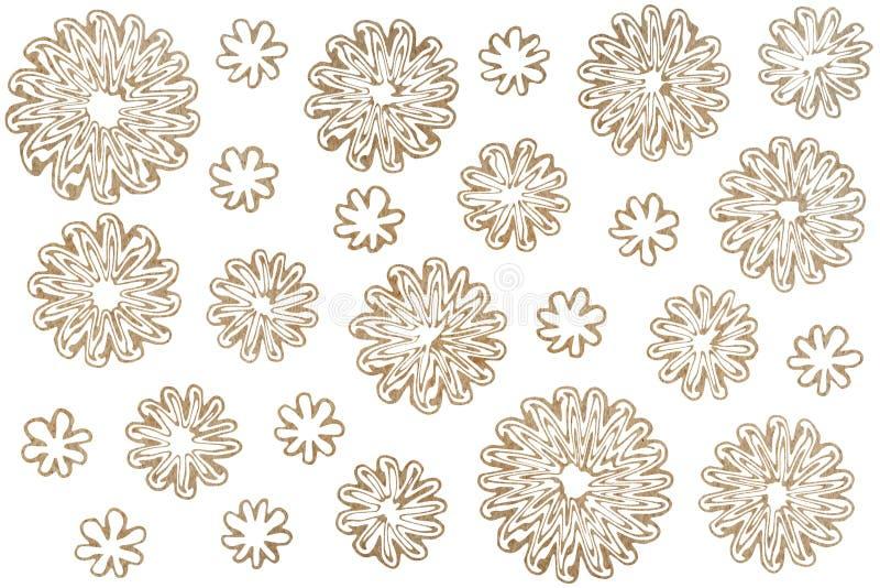 Flores abstractas de la acuarela en el fondo blanco libre illustration