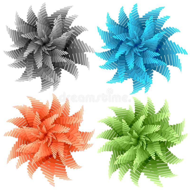 Flores abstractas del color libre illustration