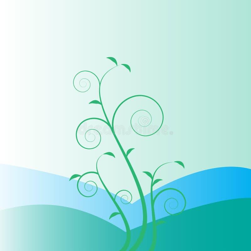 flores abstractas del fondo con la montaña libre illustration