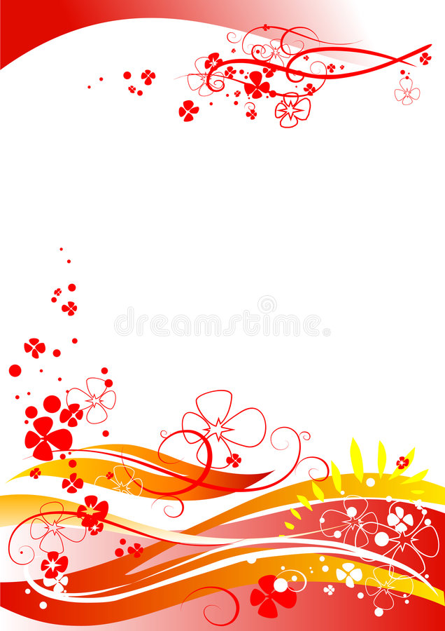 Flores abstratas ilustração do vetor