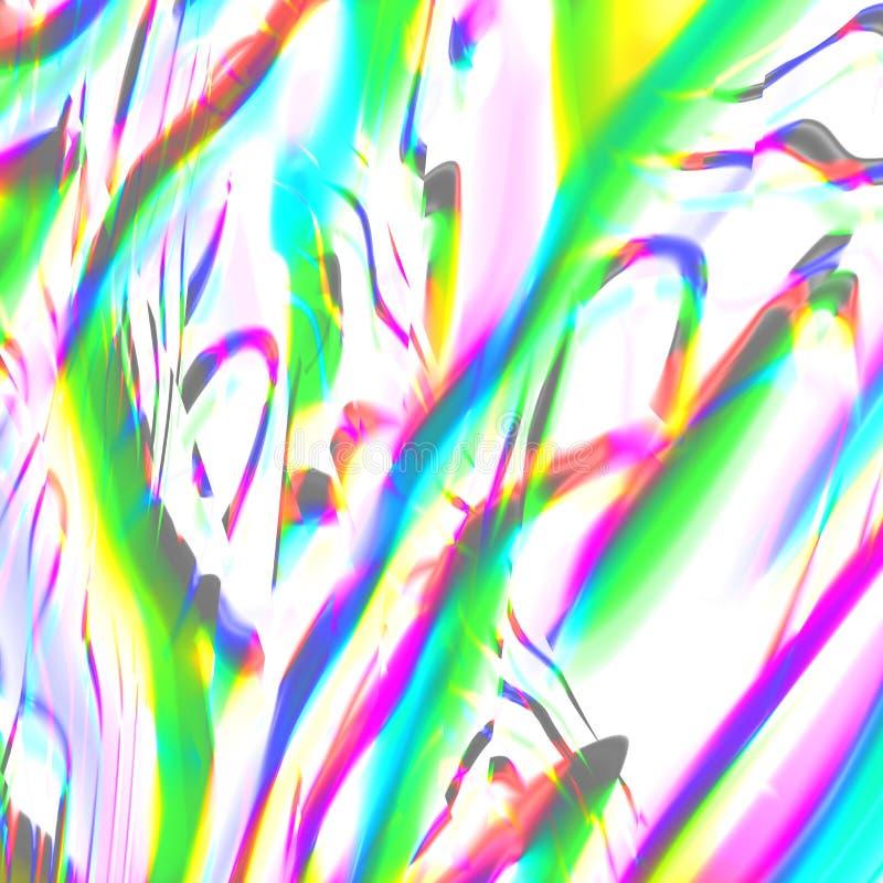 Flores abstratas brilhantes da mola 3Drender fotos de stock