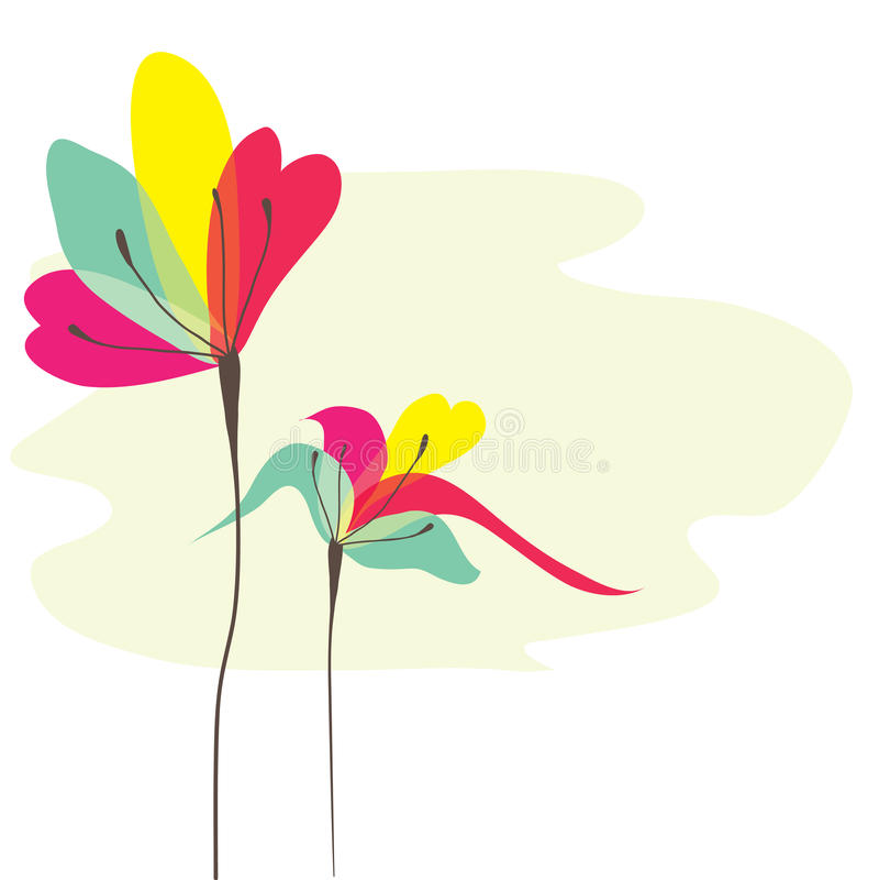 Flores abstratas do fundo. ilustração royalty free
