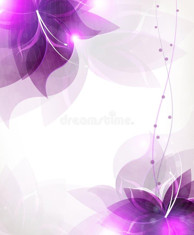 Flores abstratas do lilac ilustração do vetor
