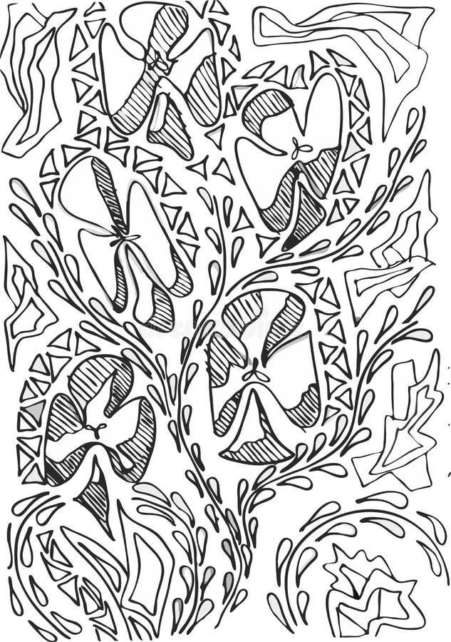 Flores abstratas do vetor fotografia de stock royalty free