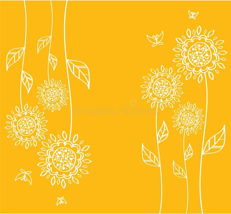 Flores amarelas, vetor ilustração do vetor