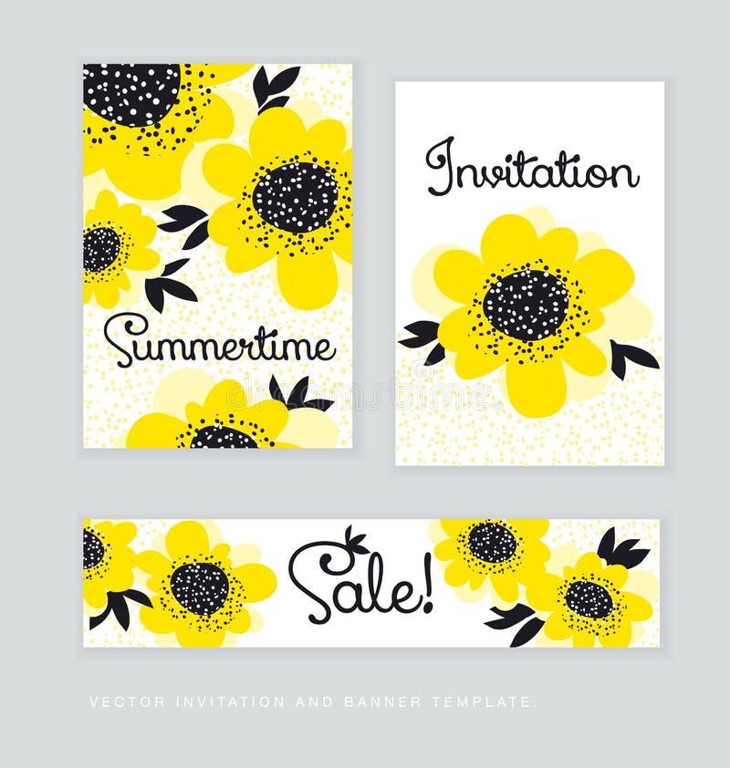 Flores amarillas de la camelia del extracto del color ilustración del vector