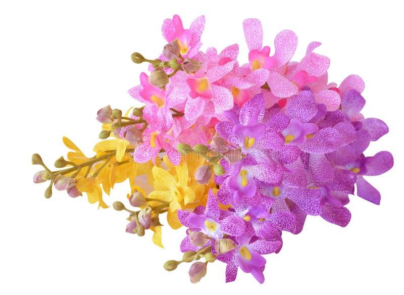 Flores artificiales coloridas fotos de archivo