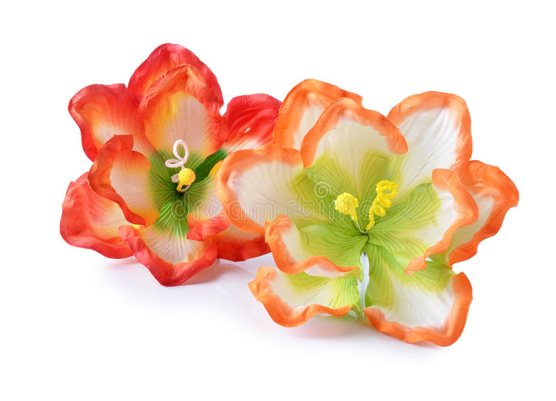 Flores artificiales del hibisco foto de archivo libre de regalías