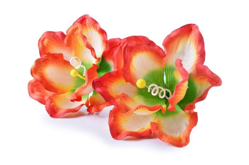 Flores artificiales del hibisco imagen de archivo libre de regalías