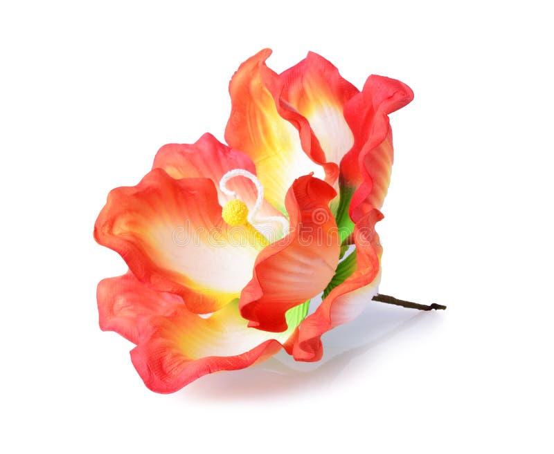 Flores artificiales del hibisco foto de archivo