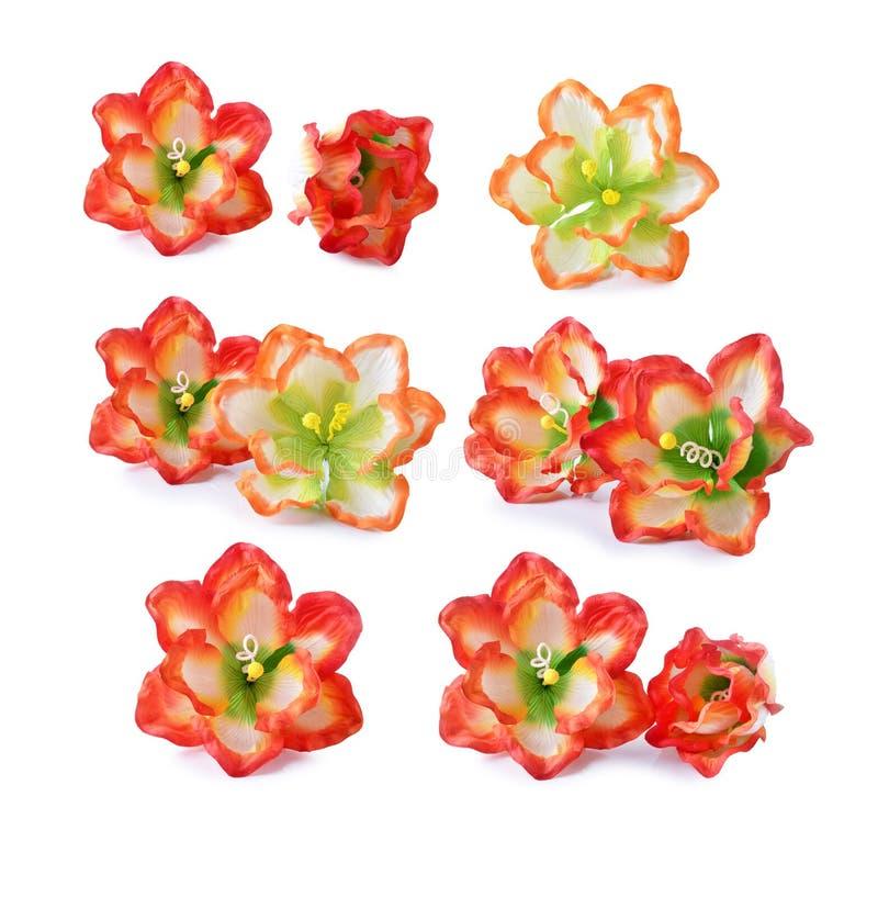 Flores artificiales del hibisco fotografía de archivo libre de regalías